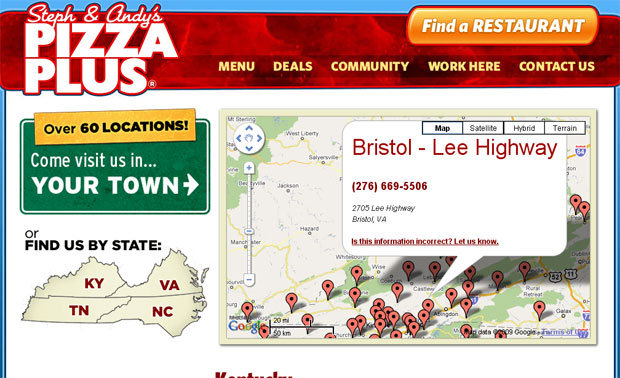Pizza Plus Public Web Site